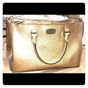 Gold Shimmer Michael Kors Crossbody